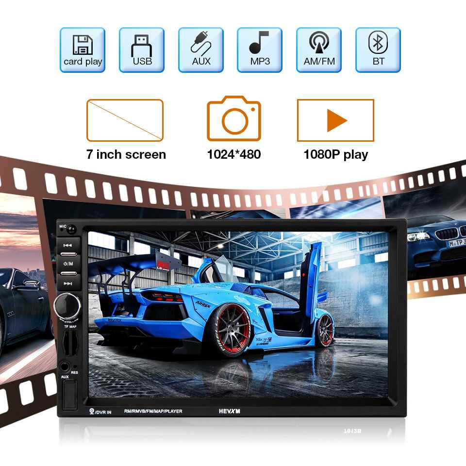 "2 Din Car Radio 7"" HD Touch Mirror Link Player Multimedia MP5 Player Rear View Camera Auto Radio Bluetooth Car Multimedia Player"