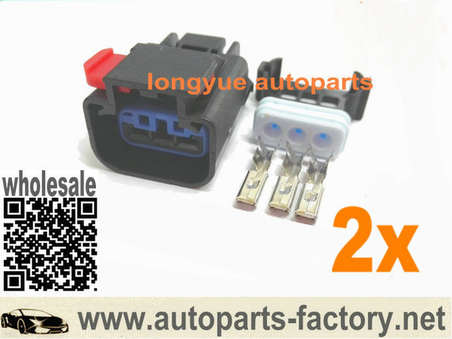 US $8 98 |longyue 2pcs 3 Way Repair Connector Accessories For Chrysler  Dodge Jeep Speed Sensor VSS 3 Terminal-in Lamp Bases from Lights & Lighting  on
