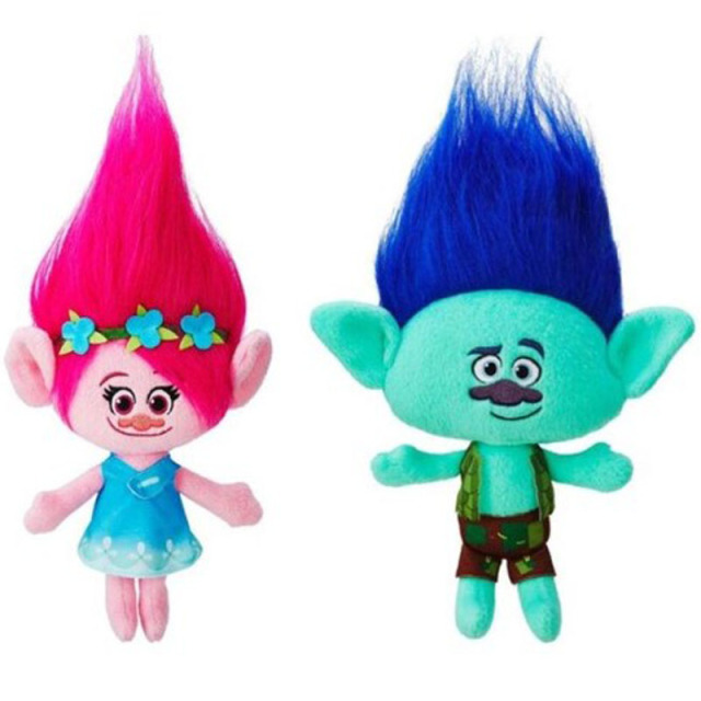 c8f421af0 1 unid nueva película juguetes trolls Peluche de juguete Poppy rama con  Magic hair Dream Works