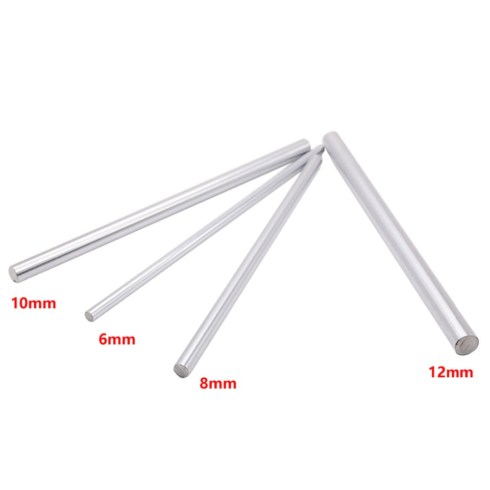 1pc <font><b>6mm</b></font> 8mm 6x100 6x200 8x100 8x200 linear shaft Rail 8x200mm Cylinder Chrome Plated Smooth Linear <font><b>Rods</b></font> axis 3d printer cnc part image