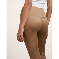 Woman Bottoms 2017 Summer High Waist Female Super Soft Suede Pants Tight Leggings High Elastic Pants