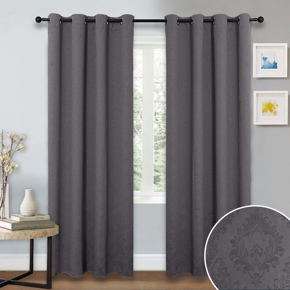 Curtains and drapes for bedroom - Nicetown Triple Weave Microfiber Grommet Top Thermal Insulated Blackout Curtains Drapes For Bedroom One Panel