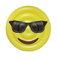 180cm inflatable emoji Emoticon package float pool swimming circle Air Mattress water toys for child adult kids beach party