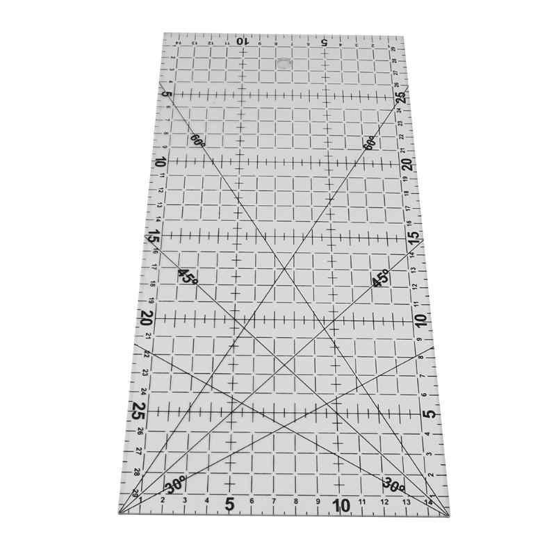 Regla de retazos de tela acrílica gruesa, regla para tela, herramientas de costura DIY, 1 ud.