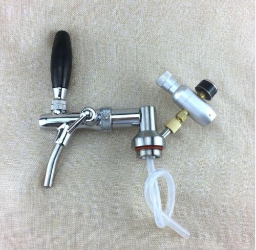 Нержавеющаясталь мини-бочонок коснитесь диспенсер с регулируемым кран пива и CO2 инжектор Премиум