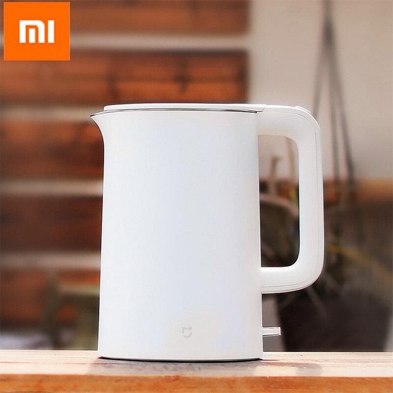 Оригинальный Xiaomi mijia 1.5l Электрический чайник воды Авто Защита от отключения питания проводной Ручной мгновенный нагрев Электрический чайн...