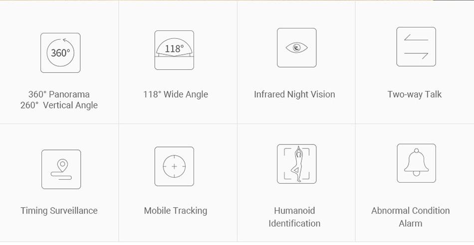 360 ip camera Dome PTZ wifi camera 1080p HD Pan Tilt Zoom wireless security camera surveillance night vision 2-way audio (2)