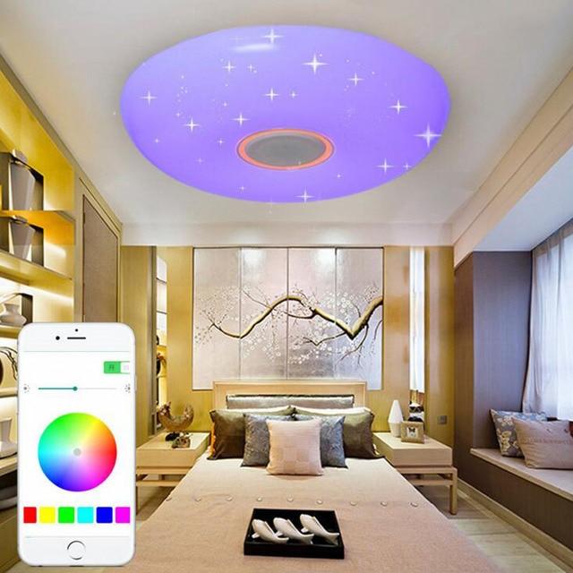 Led Bluetooth Music Lights Living Room Dining Ceiling Lamps Smart Phones Colorful Bedroom Children Light