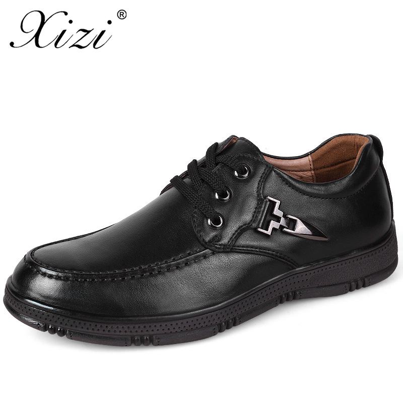 XIZI brand New Arrival Men Casual 100% Genuine Leather Shoes Male Oxfords Shoes Black Casual krasovki Flats moccasins boat Shoes xizi brand 2017 high quality fashion men casual pig suede shoes superstar brand black male walking shoes lace up soft men flats