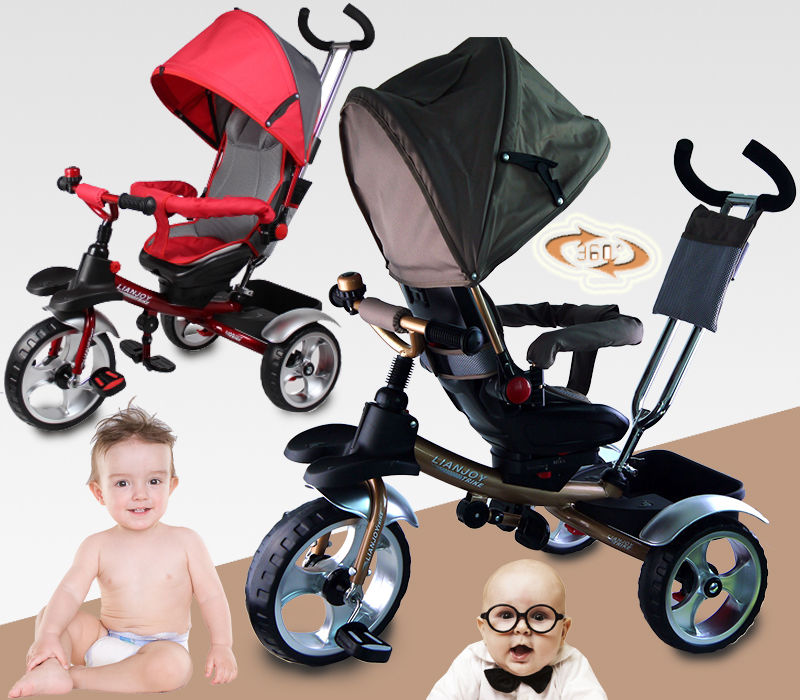0b21f791638 KID CHILD BABY TODDLER TRIKE TRICYCLE RIDE ON TOY 3 WHEEL PARENTAL CONTROL  CAR