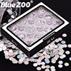 12 Box Set Laser Silver Thin Paillette Mixed Size Mini Round Flakes Nail Art Glitter Sequins