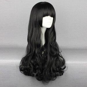 Image 3 - Biamoxer rwby blake belladonna cosplay perucas longo preto ondulado resistente ao calor cosplay peruca traje