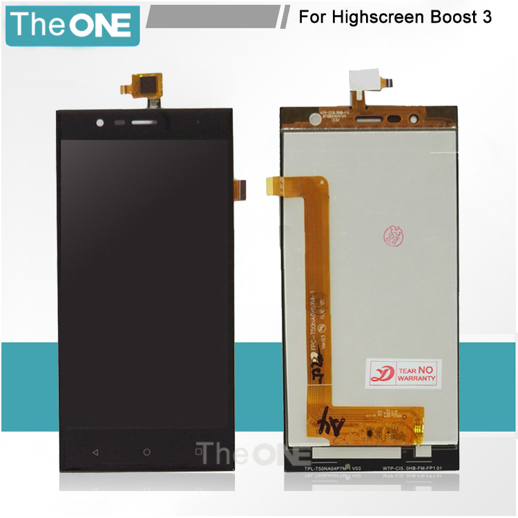 Black LCD+TP For Highscreen Boost 3 LCD Display + Touch Screen Digitizer Assembly Replacement pl50 lcd