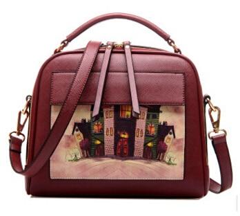 Летящие птицы! Женская кожаная сумка известных брендов, женские сумки-мессенджеры, женская сумка-мешок, высокое качество, женская сумка LS8235fb - Цвет: big red bag