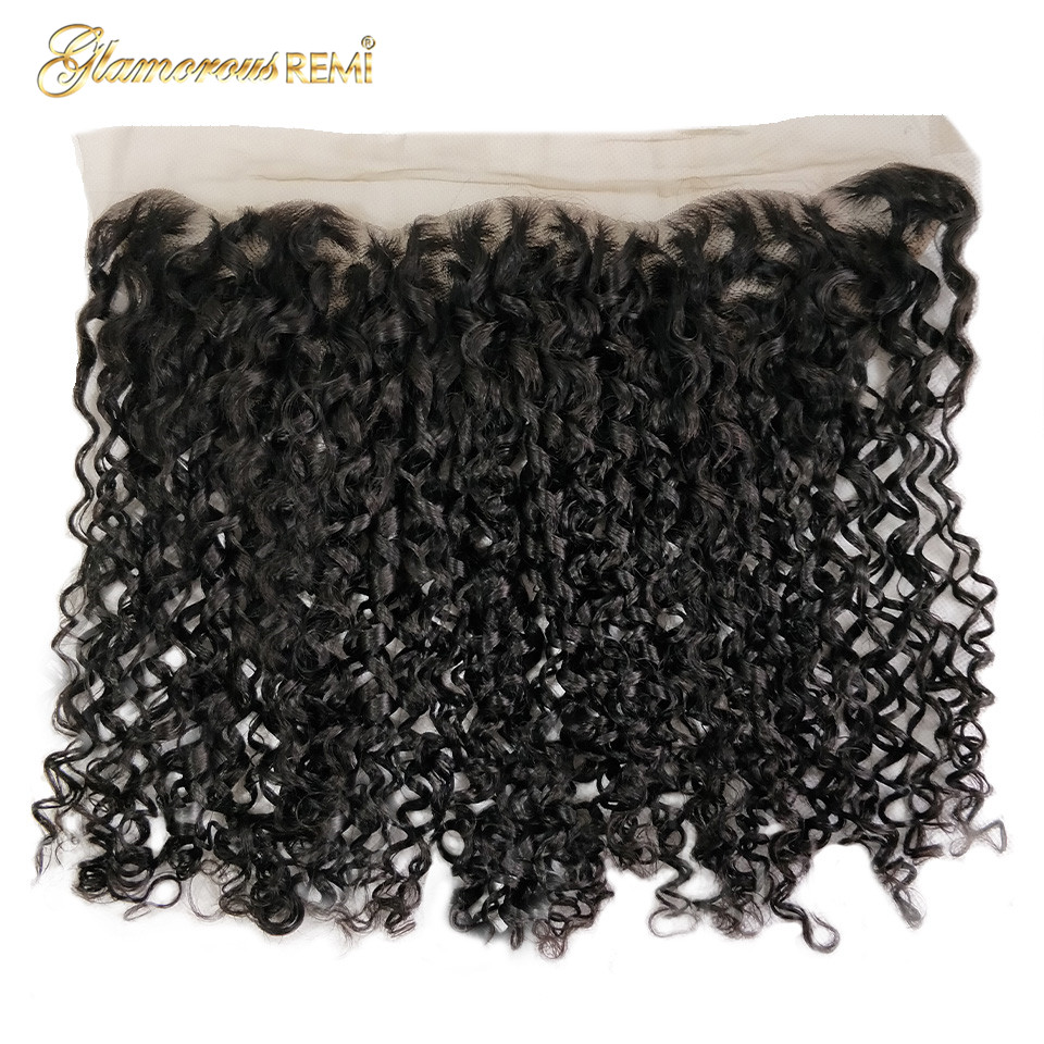 Double Drawn Pissy Curls  3 Bundles With 13*4 Lace Frontal 5