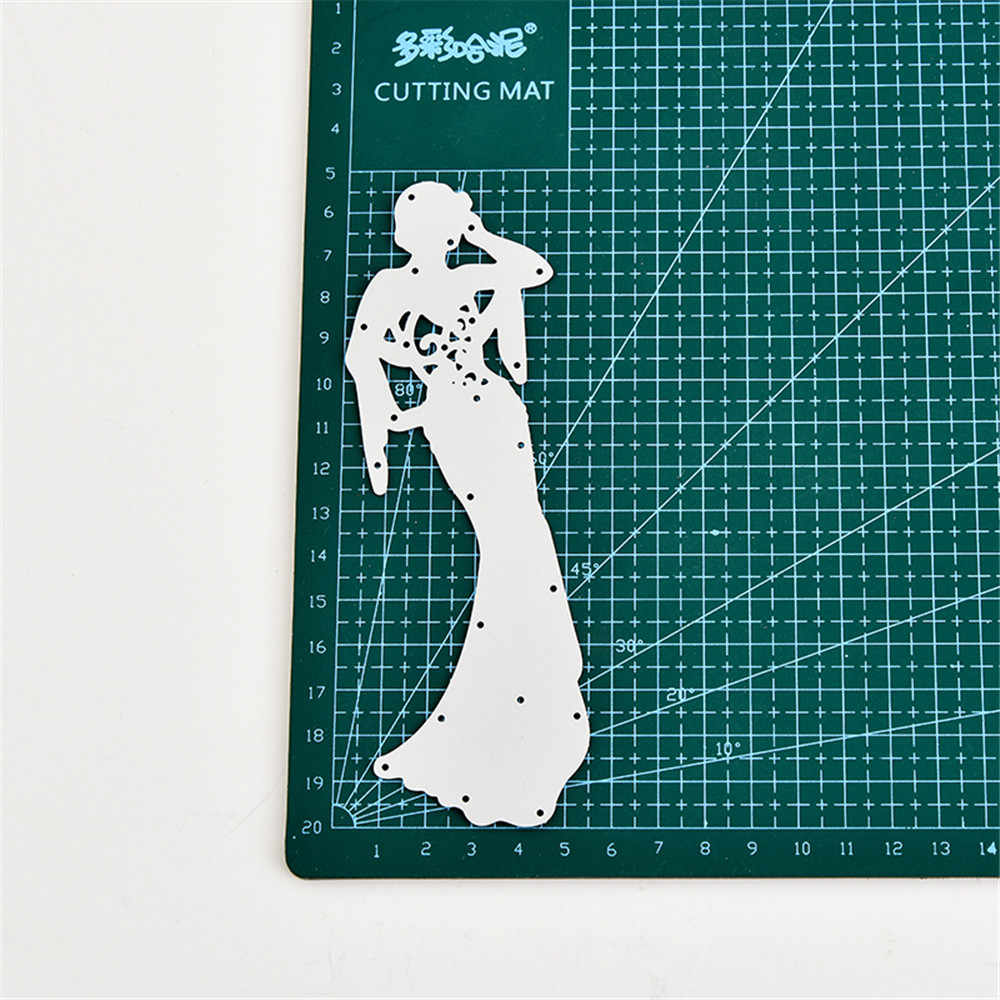2018 חדש ארוך חצאיות יופי DIY מתכת חיתוך מת שבלונות רעיונות הבלטות עבור כרטיס DIY קרפט אלבום תמונות דקור מת לחתוך