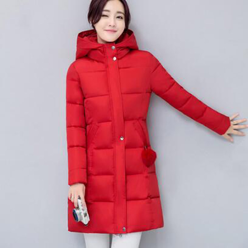 Women Winter Long Hooded Padded Coat Female Thick Casual Wadded Warm Jacket Female Parkas Outerwear Cotton Coats PW1001 jolintsai winter jacket women mid long hooded parkas mujer thick cotton padded coats casual slim winter coat women