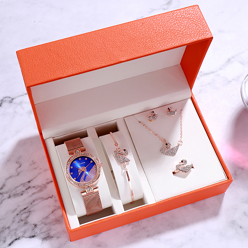 5pc/set Women Watches 2019 luxury Fashion Casual Female Wristwatch women bracelet watch relojes para mujer ladies watches