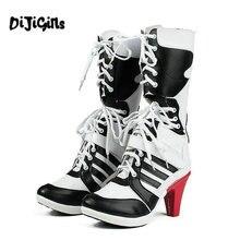 5c5a2d3484eeb7 DIJIGIRLS personalizado de moda de las mujeres Harley Quinn botas Cosplay  botas de mujer tamaño 36-43 dropshipping. exclusivo.