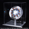 Мстители 1:1 Железный человек дуговой реактор Алюминий база MK1 реактор покрытый кожухом Core Тони Старк модель сердца со светодиодной подсветк...
