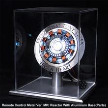 лучшая цена Avengers 1:1 Iron Man Arc Reactor Aluminum Base MK1 Reactor Core Tony Stark Heart Model With Led Light Gift DIY Need To Assemble