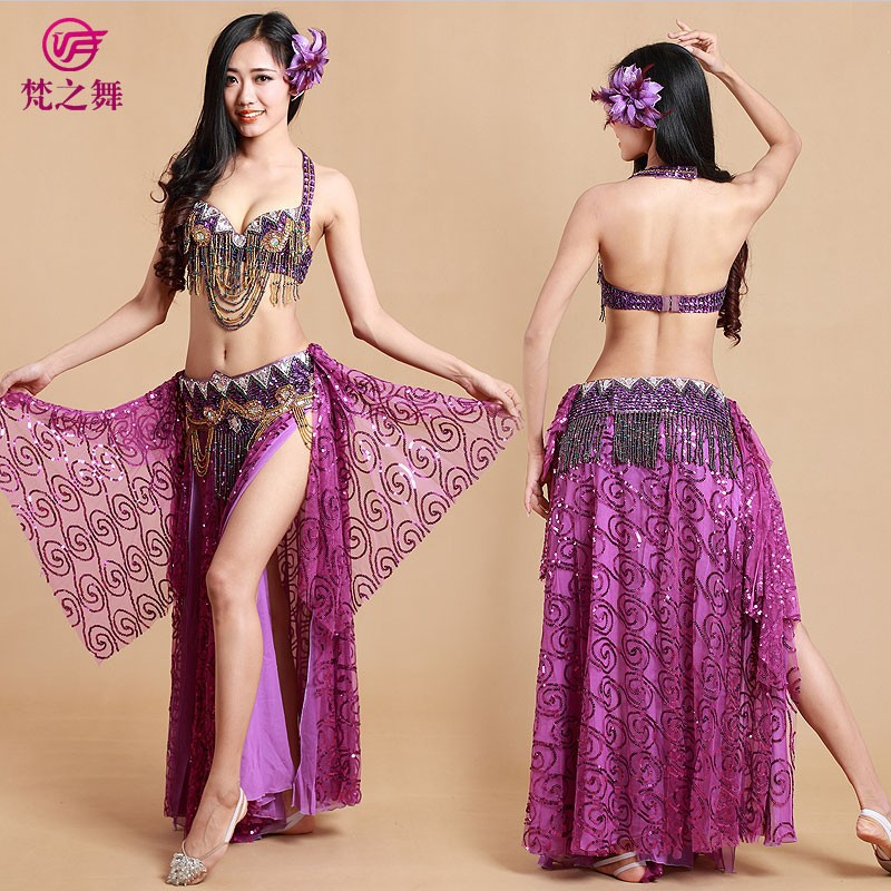 03f044aad Arabic sequins chiffon skirt dress belly dance dress egyptian ...