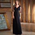 Half Sleeves Mother of the Bride Dresses Hot Vestido de madrinha A Line V Neck Pleats Lace Wedding Evening Party Grooms Gowns
