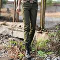 2017 autumn and winter women fashion  multi-pocket cargo pants, army green pants slim plus size casual  camouflage pants