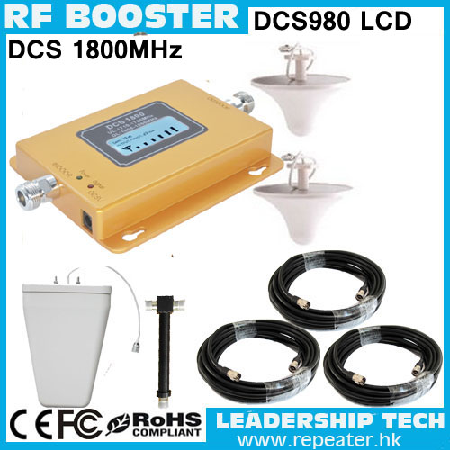Free Shipping Up To 600sqm Wholesale DCS980 1800mhz LCD Cellular Mobile/cell Phone Signal Repeater Booster Amplifier Detector