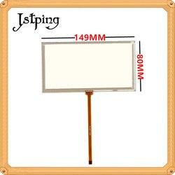 Jstping 6 cal ekran dotykowy odporność KW AV50 149mm * 80mm 149*80mm 150*80mm 150*80 4 piny digitizer zewnętrznych panelem dotykowym szkło w Ekrany LCD i panele do tabletów od Komputer i biuro na