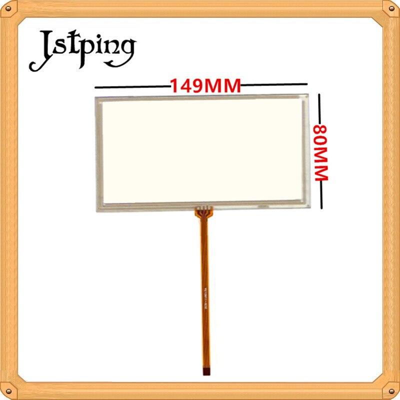 Jstping 6 Inch Resistance Touch Screen KW-AV50 149mm*80mm 149*80mm 150*80mm 150*80 4pins Digitizer External Sensor Panel Glass