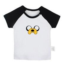 Милые детские футболки Beemo BMO Adventure Time собака Jake The Ice King для новорожденных футболка с короткими рукавами с графическим рисунком реглан