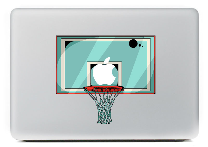 Blood basketball vinyl decal for diy macbook pro 13 15 inch and air 11 13 inch decal skin laptop sticker in laptop skins from computer office on