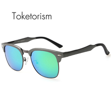 Toketorism new llegada de la alta calidad gafas de sol sin montura semi polarizado gafas de sol hombre 8558