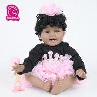 New Arrival Baby Girl Reborn Dolls Kids Toy Full Silicone Vinyl 55cm Real Lifelike Bebe Reborn Alive Doll Gifts