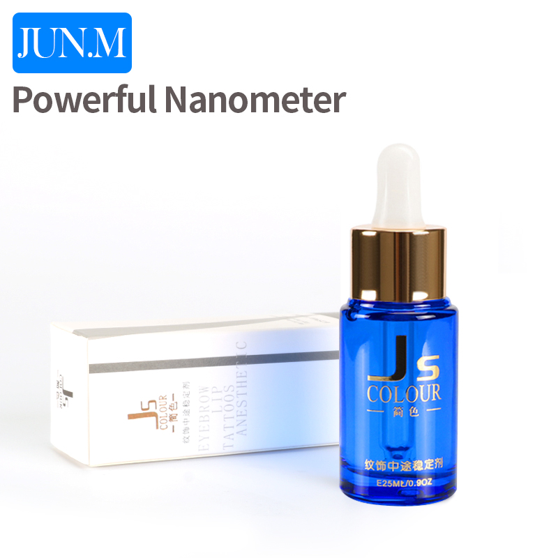 Free Shipping 1 pcs powerful nanometer auxiliary liquid permanent tattoo makeup for eyebrow 25ML 35000r import permanent makeup machine best tattoo makeup eyebrow lips machine pen
