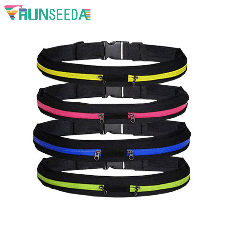 Runseeda Sports Waist Bag Portable Jogging Running Belt Bag Keys Mobile Phone Anti-theft Pack For Outdoor Cycling Riding Fitness