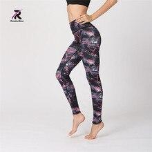 fcb8e3e43b6 2017 New Yoga Pants Lotus Print Sporting Leggings Women Sexy Fitness Legging  for Women Sportswear Trousers