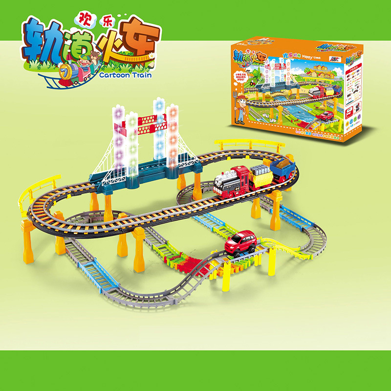 2016 electric rail car train kids toys thomas small locomotive suit boy toy car racing track
