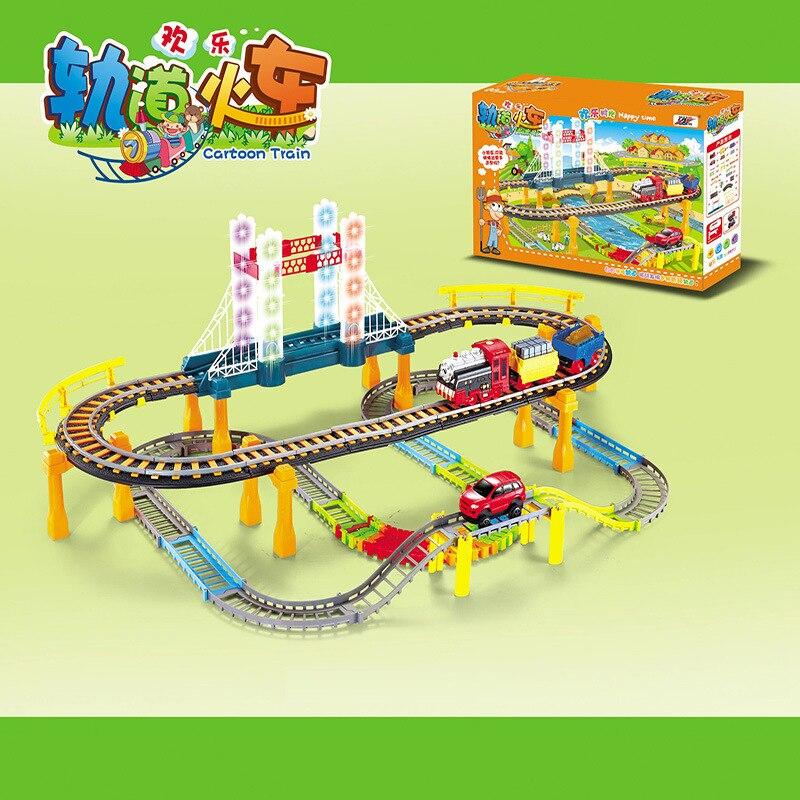 Train de voiture électrique enfants jouets Thom petite locomotive costume garçon jouet voiture course piste jouets pour enfants moulé sous pression 1:18