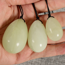 3pcs Drilled Natural Jade Stone Massager Yoni Egg Set Xiuyan Vaginal Balls Pelvic Kegel Exerciser Relaxtion Ben Wa