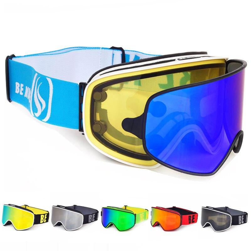 Lunettes de Ski 2 en 1 avec lentille polarisée magnétique double usage Anti-buée UV400 Snowboard hommes lunettes de Ski femmes lunettes de Ski