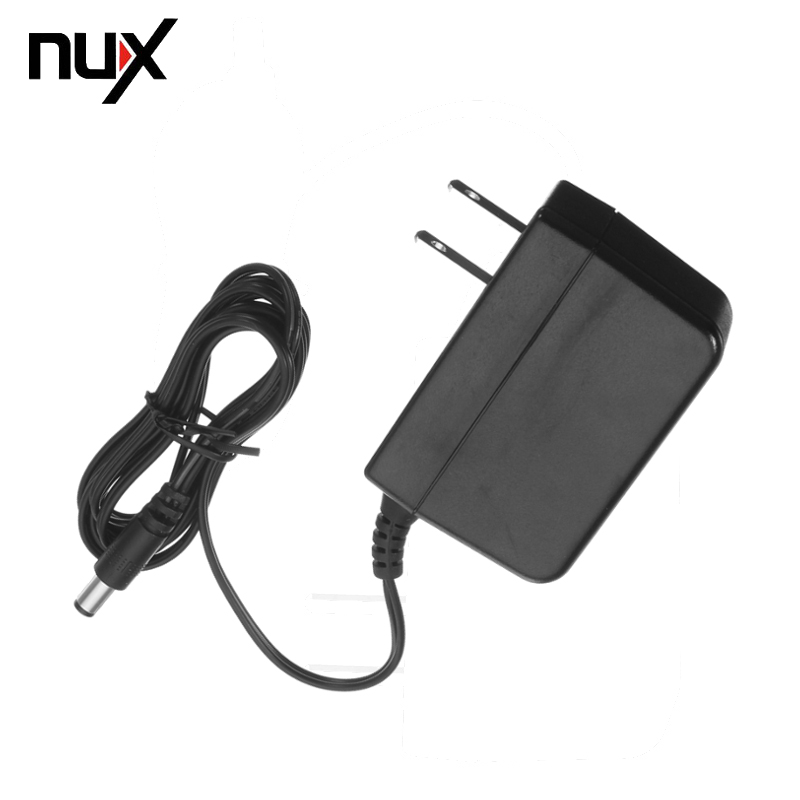 NUX ACD-008A New Arrival Black AC-DC Power Adapter 9V 1A Effect Pedal Adapter EU Plug Power Supply for all nu-X Pedals new adjustable dc 3 24v 2a adapter power supply motor speed controller with eu plug for electric hand drill