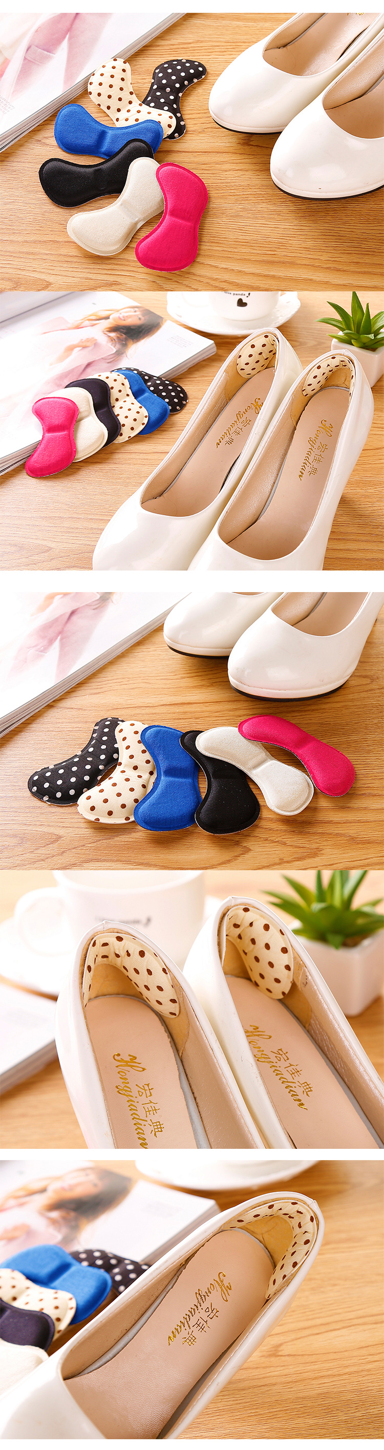 Soft Foam Half Soles Insoles Shoes Back Inserts Heel Liner Cushion Protector Foot Care Shoe Pads Grips Stickers (7)