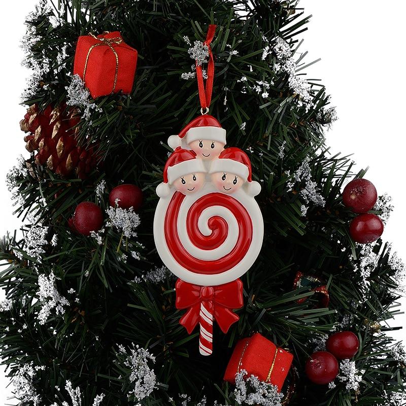 Lollipop Familia de 3 Resina Bebé Brillante Adornos para Árboles de - Para fiestas y celebraciones - foto 2