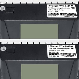 Image 3 - EASUN الطاقة الشمسية جهاز التحكم في الشحن 30A 40A PWM جهاز تحكم يعمل بالطاقة الشمسية USB 5 فولت الجهد المنظم شاشة الكريستال السائل 12 فولت 24 فولت منظم الطاقة الشمسية