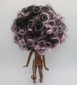 Image 5 - Nue Blyth poupée corps mixte cheveux super noir peau mode poupée usine poupée 20181129