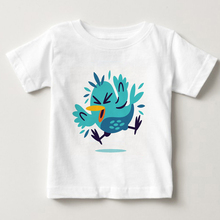 kids short T-shirts lovely bird short sleeve girls summer T-shirt Funny bird children's T-shirt colors fashion children t shirts цены онлайн