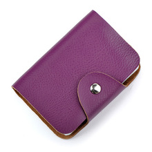 Hasp Genuine Leather Card ID Holder Bank Credit Card Holder Multiple Cards Can Be Placed Entrance Guard Multiple Cards  Holders