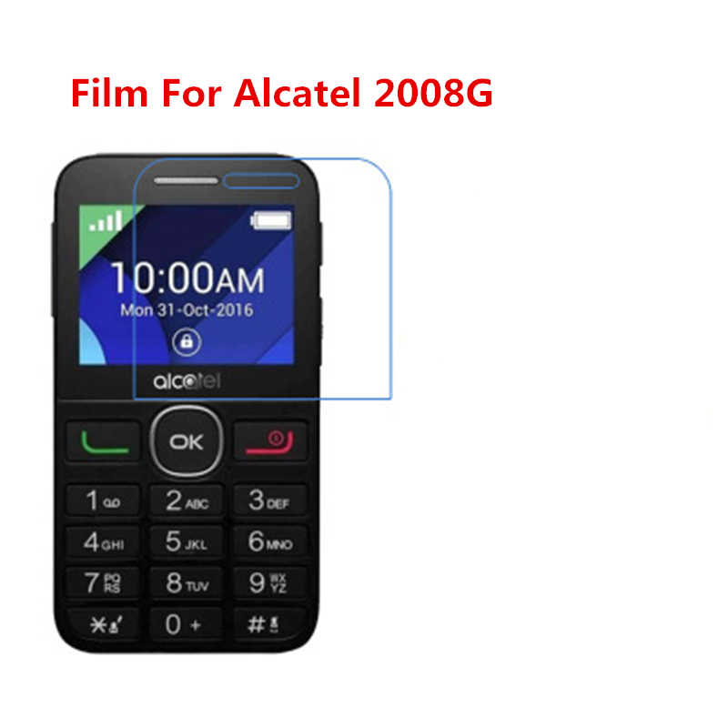 1/2/5/10 Pcs Ultra Thin Clear HD LCD Screen Guard Protector Film With Cleaning Cloth Film For Alcatel 2008G.